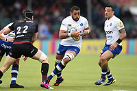 Taulupe Faletau of Bath Rugby in possession. Aviva Premiership match, between Saracens and Bath Rugby on April 15, 2018 at Allianz Park in London, England. Photo by: Patrick Khachfe / Onside Images