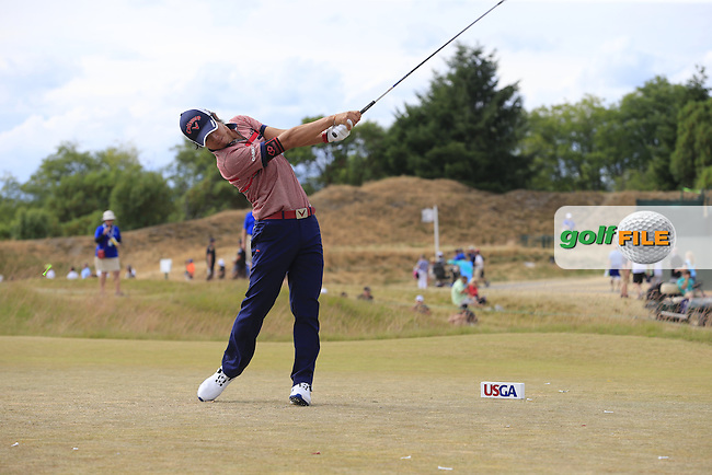Ryo ISHIKAWA (JPN) tees off the 4th tee during Thursday's Round 1 of the 2015 U.S. Open 115th National Championship held at Chambers Bay, Seattle, Washington, USA. 6/19/2015.<br /> Picture: Golffile | Eoin Clarke<br /> <br /> <br /> <br /> <br /> All photo usage must carry mandatory copyright credit (&copy; Golffile | Eoin Clarke)
