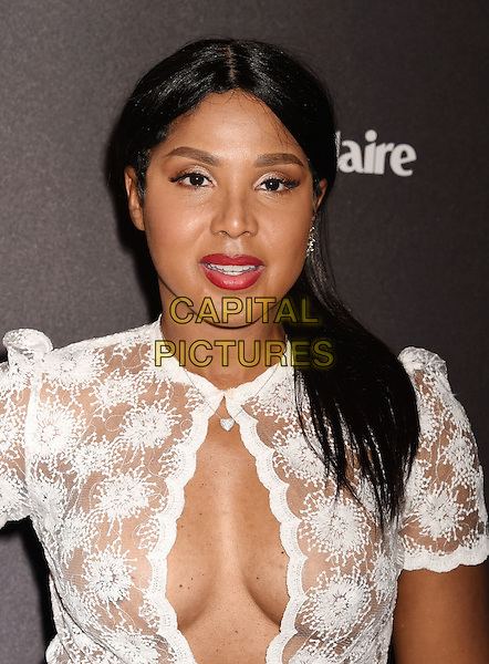 BEVERLY HILLS, CA - JANUARY 10: Singer Toni Braxton attends The Weinstein Company and Netflix Golden Globe Party, presented with DeLeon Tequila, Laura Mercier, Lindt Chocolate, Marie Claire and Hearts On Fire at The Beverly Hilton Hotel on January 10, 2016 in Beverly Hills, California.<br /> CAP/ROT/TM<br /> &copy;TM/ROT/Capital Pictures