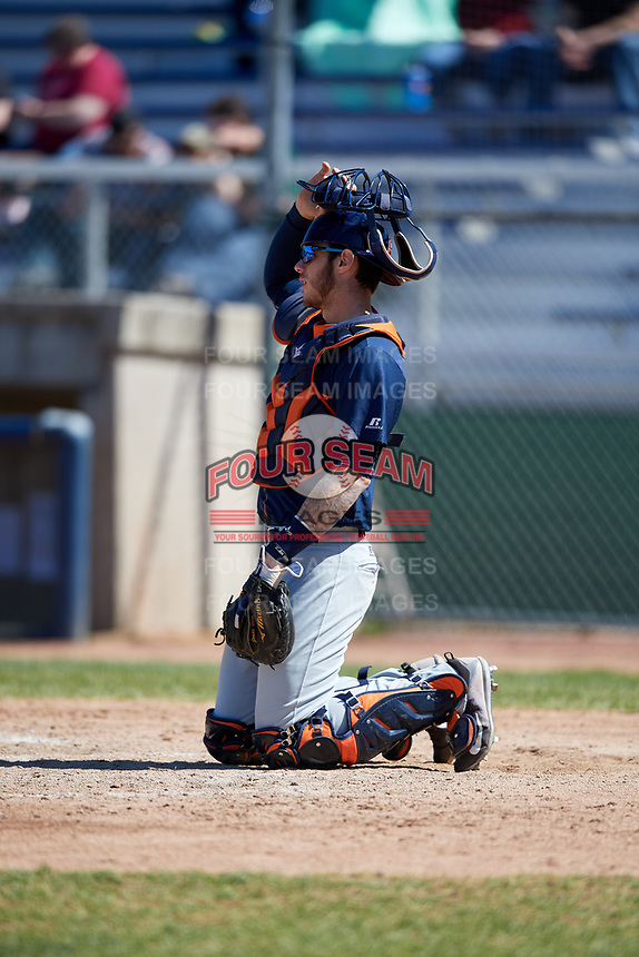 Bowling Green Hot Rods catcher Jonah Heim (6) during a game against the Beloit Snappers on May 7, 2017 at Pohlman Field in Beloit, Wisconsin.  Bowling Green defeated Beloit 6-2.  (Mike Janes/Four Seam Images)