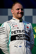 17th March 2019, Melbourne Grand Prix Circuit, Melbourne, Australia; Melbourne Formula One Grand Prix, race day; Valtteri Bottas is first after the race