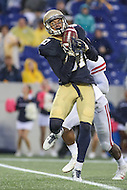 Annapolis, MD - October 8, 2016: Navy Midshipmen wide receiver Brandon Colon (87) catches a pass during game between Houston and Navy at  Navy-Marine Corps Memorial Stadium in Annapolis, MD.   (Photo by Elliott Brown/Media Images International)