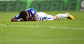 9th September 2017, Madejski Stadium, Reading, England; EFL Championship football, Reading versus Bristol City; Liam Moore of Reading fails to get on the end of a cross