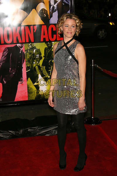 "ELIZABETH BANKS.""Smokin' Aces"" World Premiere - Arrivals presented by Universal Pictures and Working Title held at the Grauman's Chinese Theater, Hollywood, California, USA..January 18th, 2007.full length dress silver sequins sequined black straps tights.CAP/ADM/ZL.©Zach Lipp/AdMedia/Capital Pictures"
