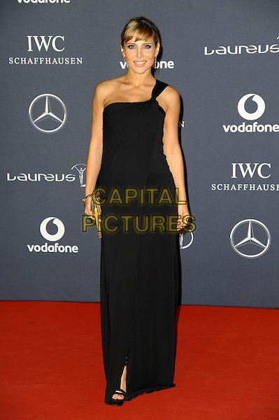 Elsa Pataky.Arrivals at the Laureus 2012 World Sports Awards held at the Queen Elizabeth II Centre, London, England..February 6th, 2012.full length black one shoulder dress.CAP/CAS.©Bob Cass/Capital Pictures.