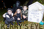 Anna Dandy, Ava Ward, Andrea and Timmy Ward visits Count Dracula grave  at the Knocknagoshel Ghost Trail on Sunday night
