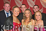 Front L-R Catriona Sayers,Gillian Harris and Jennifer o Leary(back)L-R David Savage,Danny Casey andJohn Sayers all enjoying the annual Tralee ITT Ball at the Ballyroe Heights Hotel last Wednesday night    Copyright Kerry's Eye 2008