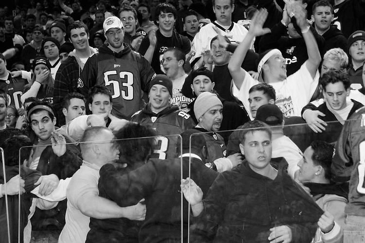Fights break out at the 13th annual Wing Bowl, held in Philadelphia on February 4, 2005 at the Wachovia Center.<br /> <br /> The Wing Bowl is a competitive eating event in which eaters try and down the most hot wings in 30 total minutes in front of a crowd of 10,000 plus people.  The real show however is all around the eaters, from the various scantily clad women, known as &quot;Wingettes&quot;, that make up competitors' entourages to the behavior of the fans themselves.