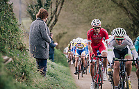 eventual winner Christophe Laporte (FRA/Cofidis) on one of the early sectors<br /> <br /> 35th Tro Bro Leon 2018<br /> 1 Day Race: Le Carpont - Lannilis (FRA/203km)