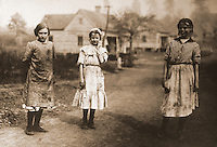 "Historical Views:  Lewis Hine Photograph ""Young Workers at Cotton Mill"",  Kosciusko, Mississippi 1913.  Photo '78.  Reference only."