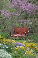 spring summer garden bench