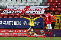 Todd Kane, on loan from Chelsea, celebrates scoring Oxford United's second goal during Charlton Athletic vs Oxford United, Sky Bet EFL League 1 Football at The Valley on 3rd February 2018