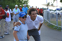 Pedro Oriol (ESP) stops for a photo after coming off the 18th during Round 3 of the HNA Open De France at Le Golf National in Saint-Quentin-En-Yvelines, Paris, France on Saturday 30th June 2018.<br /> Picture:  Thos Caffrey | Golffile