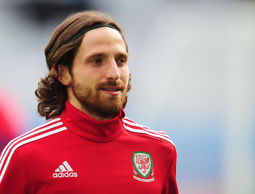 Wales's Joe Allen during todays training session<br /> <br /> Photographer Kevin Barnes/CameraSport<br /> <br /> International Football - 2016 UEFA European Championship - Training Session - Group B - England v Wales - Wednesday, 15th June 2016 - Stade Bollaert-Delelis, Lens Agglo, France<br /> <br /> World Copyright &copy; 2016 CameraSport. All rights reserved. 43 Linden Ave. Countesthorpe. Leicester. England. LE8 5PG - Tel: +44 (0) 116 277 4147 - admin@camerasport.com - www.camerasport.com