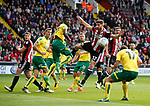 Ched Evans of Sheffield Utd just fails to connect with a crossed ball during the Championship match at Bramall Lane Stadium, Sheffield. Picture date 16th September 2017. Picture credit should read: Simon Bellis/Sportimage
