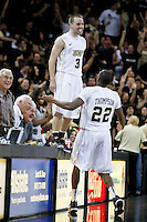 February 26, 2011: Central Florida guard A.J. Rompza (3) celebrates after hitting a three point shot with 3.8 seconds in second half mens Conference USA NCAA basketball game action between the Southern Miss Golden Eagles and the Central Florida Knights. Central Florida defeated Southern Miss 65-64 at the UCF Arena in Orlando, Fl..