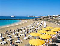 Spain, Canary Island, Lanzarote, Puerto del Carmen, Playa Blanca, beach | Spanien, Kanarische Inseln, Lanzarote, Puerto del Carmen, Playa Blanca, Strand