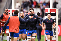 9th February 20020, Stade de France, Paris, France; 6-Nations international mens rugby union, France versus Italy;  Charles Ollivon of France during warm-up