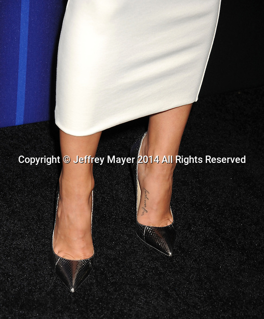 LOS ANGELES, CA- AUGUST 21: Actress Cara Santana (shoe detail) at the Audi Emmy Week Celebration at Cecconi's Restaurant on August 21, 2014 in Los Angeles, California.