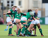 2nd February 2020; Energia Park, Dublin, Leinster, Ireland; International Womens Rugby, Six Nations, Ireland versus Scotland; Kathryn Dane (Ireland) kicks clear from the back of a ruck