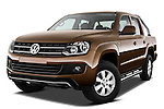 Low aggressive front three quarter view of a 2012 Volkswagen Amarok Trendline Truck .
