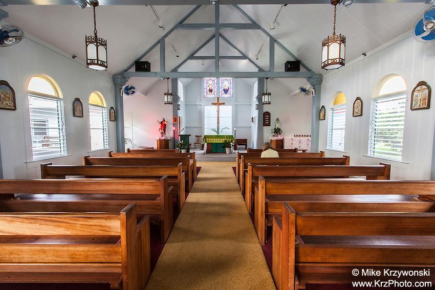 Inside of Good Shepherd Catholic Mission, Honomu, Big Island, Hawaii