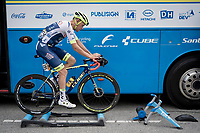 Xandro Meurisse (BEL/Wanty - Gobert) warming up at the race start in Saint-Jean-de-Maurienne<br /> <br /> Stage 19: Saint-Jean-de-Maurienne to Tignes (126km)<br /> 106th Tour de France 2019 (2.UWT)<br /> <br /> ©kramon