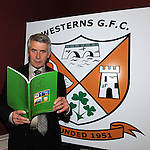 Refelections on Reaghstown and Westerns GFC 1951-2011 author Brendan Matthews pictured with his book at it's launch in Dooley's restaurant Edmondstown. Photo: Colin Bell/pressphotos.ie
