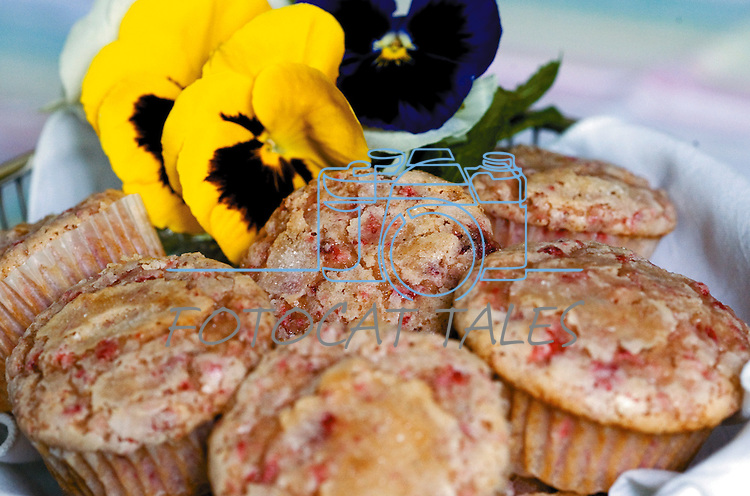 Cathleen Allison/Nevada Appeal.Muffy Vhay makes strawberry muffins as a spring treat.