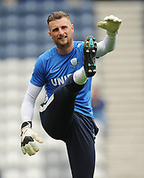 Preston North End's Declan Rudd during the pre-match warm-up <br /> <br /> Photographer Kevin Barnes/CameraSport<br /> <br /> The EFL Sky Bet Championship - Preston North End v Barnsley - Saturday 5th October 2019 - Deepdale Stadium - Preston<br /> <br /> World Copyright © 2019 CameraSport. All rights reserved. 43 Linden Ave. Countesthorpe. Leicester. England. LE8 5PG - Tel: +44 (0) 116 277 4147 - admin@camerasport.com - www.camerasport.com
