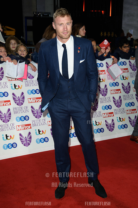 LONDON, UK. October 29, 2018: Andrew 'Freddie' Flintoff at the Pride of Britain Awards 2018 at the Grosvenor House Hotel, London.<br /> Picture: Steve Vas/Featureflash