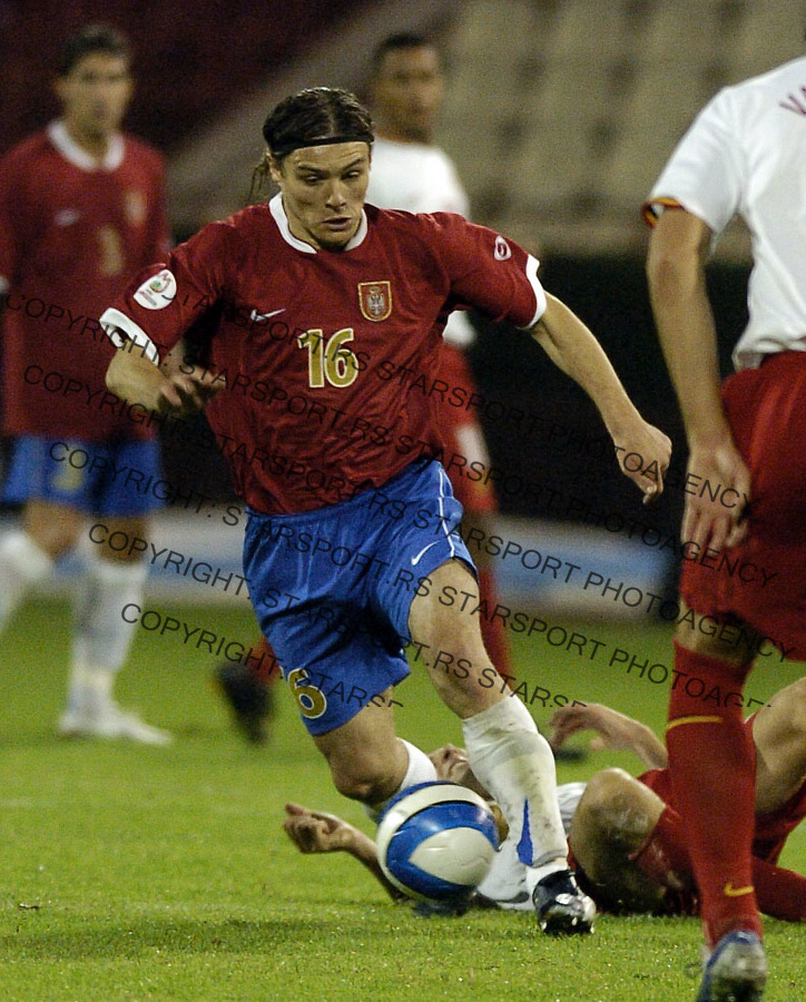 SPORT FUDBAL SRBIJA BELGIJA REPREZENTACIJA EURO 2008 KVALIFIKACIJE SOCCER NATIONAL TEAM Nenad Kovacevic 7.10.2006. photo: Pedja Milosavljevic<br />