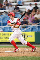 July 4th 2008:  Catcher Travis d'Arnaud (15) of the Williamsport Crosscutters, Class-A affiliate of the Philadelphia Phillies, during a game at Bowman Field in Williamsport, PA.  Photo by:  Mike Janes/Four Seam Images
