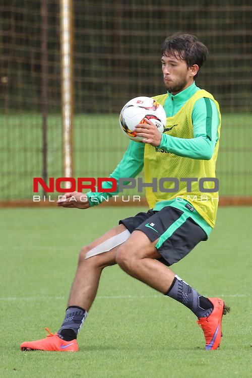27.07.2015, Trainingsgelaende, Bremen, GER, 1.FBL, Training Werder Bremen , <br /> <br /> im Bild<br /> Julian von Haacke (Bremen #26)<br /> <br /> Foto &copy; nordphoto / Ewert