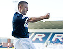John Baird (9) celebrates after he scores Raith's second.