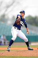 New Orleans Zephyrs pitcher Brad Hand #24 during a game against the Round Rock Express on April 15, 2013 at Zephyr Field in New Orleans, Louisiana.  New Orleans defeated Round Rock 3-2.  (Mike Janes/Four Seam Images)