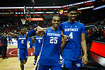 Kentucky Wildcats forward PJ Washington (25) left the court after their game as UK won 71-58 at the KFC Yum Center on Saturday Dec. 29, 2018 in Louisville, Ky.