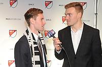 Philadelphia, PA - Thursday January 19, 2018: Jon Gallagher, Julian Gressel during the 2018 MLS SuperDraft at the Pennsylvania Convention Center.
