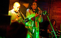 Generic Eric: Trumpet Man Dan and Ed Dangerous with drummer The Bev, Barnboppers and Shuddervision, Ska-lloween Gig 29 October 2011 The Wagon and Horses, Digbeth,
