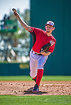 9 March 2014: Washington Nationals starting pitcher Stephen Strasburg on the mound during a Spring Training game against the St. Louis Cardinals at Space Coast Stadium in Viera, Florida. The Nationals defeated the Cardinals 11-1 in Grapefruit League play. Mandatory Credit: Ed Wolfstein Photo *** RAW (NEF) Image File Available ***
