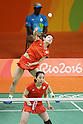 Ayaka Takahashi &amp; Misaki Matsutomo (JPN),<br /> AUGUST 15, 2016 - Badminton : <br /> Women's Doubles Quarter-final<br /> at Riocentro - Pavilion 3<br /> during the Rio 2016 Olympic Games in Rio de Janeiro, Brazil. <br /> (Photo by Koji Aoki/AFLO SPORT)