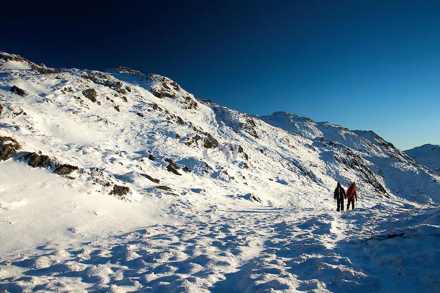 Ascending Ben Venue, Southern Highlands, Loch Lomond and the Trossachs National Park, Stirlingshire
