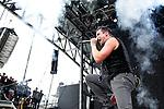 John Cooper of Skillet performs during the 2013 Rock On The Range festival at Columbus Crew Stadium in Columbus, Ohio.