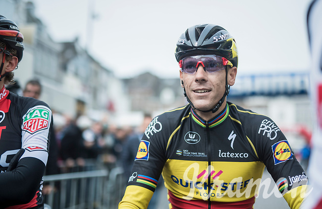 Belgian Champion &amp; tripple Amstel winner Philippe Gilbert (BEL/Quick Step floors) relaxed at the start of the race in Maastricht<br /> <br /> 52nd Amstel Gold Race (1.UWT)<br /> 1 Day Race: Maastricht &rsaquo; Berg en Terblijt (264km)