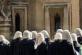 Judges walk from Westminster Abbey to the Palace of Westminster in central London to mark the start of the new legal year in England and Wales