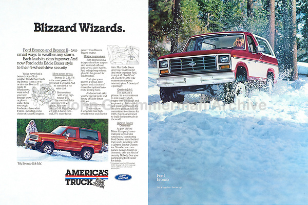 "Ford Bronco II, ""Blizzard Wizards,"" 1984. Photo by John G. Zimmerman."