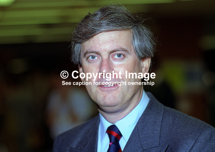 Gyles Brandreth, MP, Conservative Party, UK, taken annual conference October 1992. 19921052GB..Copyright Image from Victor Patterson, 54 Dorchester Park, Belfast, UK, BT9 6RJ..Tel: +44 28 9066 1296.Mob: +44 7802 353836.Voicemail +44 20 8816 7153.Skype: victorpattersonbelfast.Email: victorpatterson@me.com.Email: victorpatterson@ireland.com (back-up)..IMPORTANT: If you wish to use this image or any other of my images please go to www.victorpatterson.com and click on the Terms & Conditions. Then contact me by email or phone with the reference number(s) of the image(s) concerned.