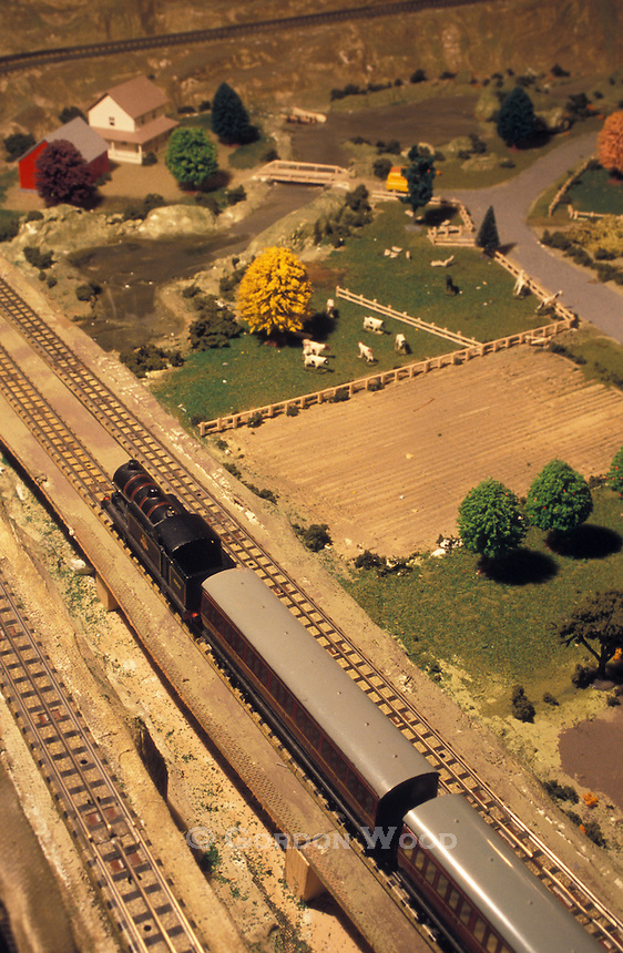 Antique British Model Railway Layout and Scenery