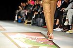 October 19, 2012, Tokyo, Japan - A model poses on the catwalk wearing ''Beautiful People'' during Mercedes-Benz Fashion Week Tokyo 2013 Spring/Summer. The Mercedes-Benz Fashion Week Tokyo runs from October 13-20. (Photo by Yumeto Yamazaki/AFLO)