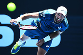 10th January 2018, ASB Tennis Centre, Auckland, New Zealand; ASB Classic, ATP Mens Tennis;  Steve Johnson (USA) during the ASB Classic ATP Men's Tournament Day 3
